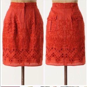 Anthropologie Baraschi Tomato Picking Skirt Size 2